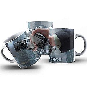 Caneca de Porcelana 325ml Personalizada Black Mirror