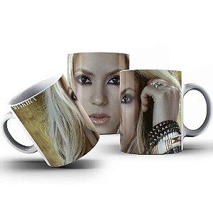 Caneca de Porcelana 325ml Personalizada Shakira