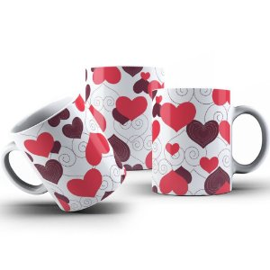 Caneca de Porcelana 325ml Personalizada Love