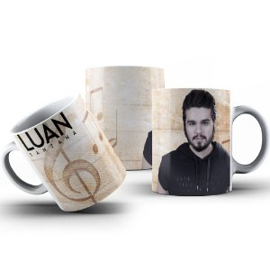 Caneca de Porcelana 325ml Personalizada Luan Santana