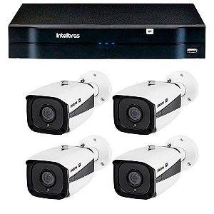 Kit 04 Câmeras IP Full HD Intelbras VIP 1220 B G3 + NVD 1204