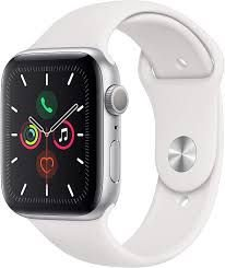 Apple  Watch Series 5 Silver Aluminum Case White Sport Band 44mm (GPS)
