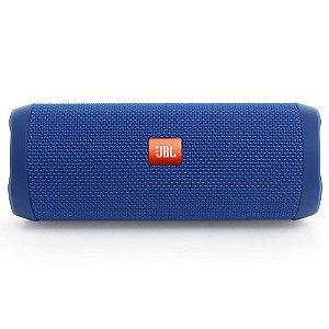 Caixa de Som JBL Flip 4 Bluetooth à Prova D'água Azul