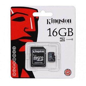 Cartão de Memória 16gb Micro Sd com 1 Adapter - Kingston