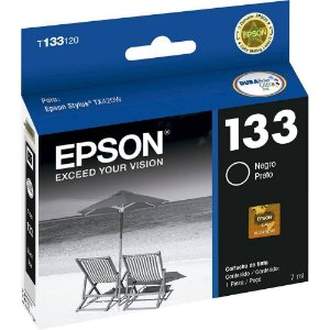 Cartucho de Tinta Epson 133 (T133120-Al ) Preto 7ml