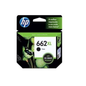 Cartucho de Tinta HP 662xl (Cz105) Preto 6,5ml