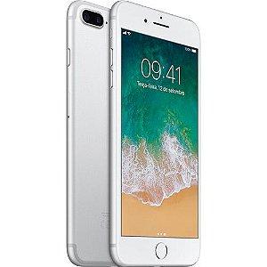 "iPhone 7 Plus Apple 32GB Silver 4G Tela 5.5"" Câmera Dupla 12MP + Selfie 7MP iOS 11 Proc. Chip A10"