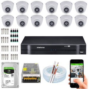 Kit Cftv Dvr + 12 Câmeras Vhd 1220 D G5 ( Com HD ) Intelbras