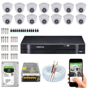 Kit Cftv Dvr Mhdx + 14 Câmeras Vhd 1010 D G4 ( Com HD Incluso ) - Intelbras