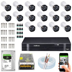 Kit Cftv Dvr Mhdx + 16 Câmeras Vhd 1010 B G5 ( Com HD incluso ) - Intelbras