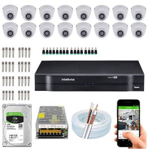 Kit Cftv Dvr + 16 Câmeras Vhd 1120 D G5 ( Com HD ) Intelbras