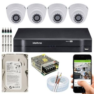 Kit Cftv Dvr Mhdx + 4 Câmeras Vhd 1120 D G5 ( Com HD incluso ) - Intelbras