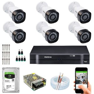 Kit Cftv Dvr Mhdx + 6 Câmeras Vhd 1010 B G5 ( Com HD Incluso ) - Intelbras