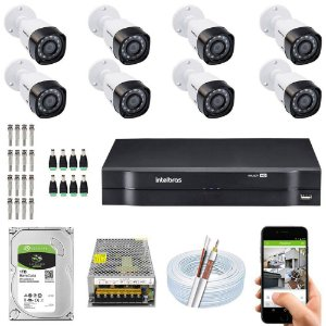 Kit Cftv Dvr Mhdx + 8 Câmeras Vhd 1010 B G5 ( Com HD incluso ) - Intelbras