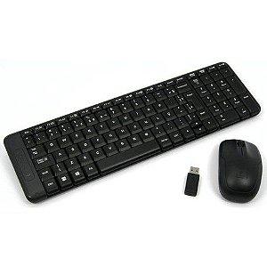 Kit Teclado e Mouse sem Fio Mk220 Preto - Logitech