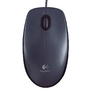 Mouse Óptico com Fio M90 Preto - Logitech