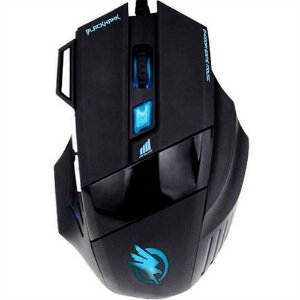 Mouse Gamer OM703 Óptico Usb Black Hawk 2400 Dpi - Fortrek