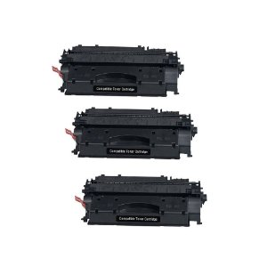 Kit 03 Cartuchos de Toner Compatível HP Ce-505X Cf-280X