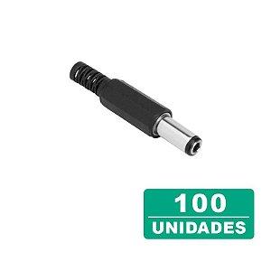 Kit 100 Conectores para Fonte Plug P4 Macho