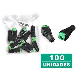 Kit 100 Conectores Plug P4 Fêmea