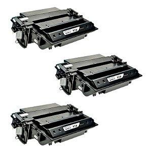 Kit 03 Cartuchos de Toner Compatível HP Q7551X