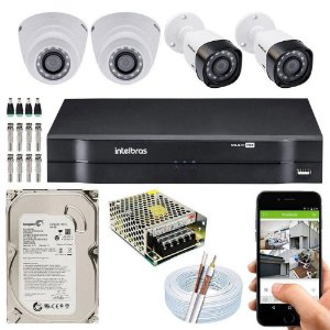 Kit Cftv Dvr + 4 Câmeras Vhd 1220 G5 ( Com HD ) Intelbras