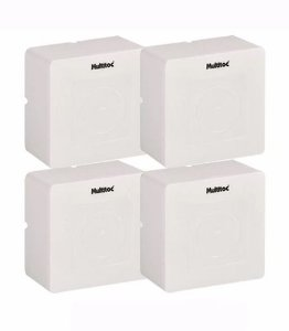 Kit 4 Caixa Sobrepor Cftv Quadrada - Multitoc