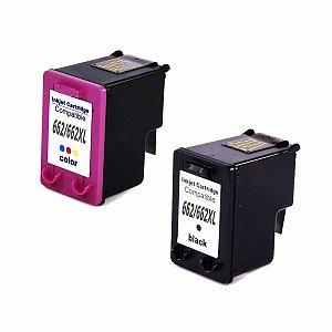 Kit Cartucho de Tinta Hp 662 Xl Compatível Preto + Colorido
