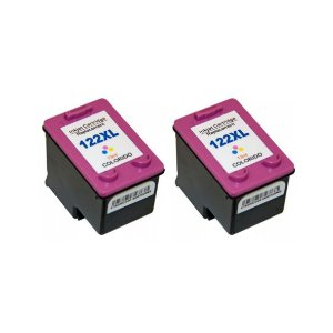 Kit 2 Cartuchos de Tinta Compativel HP 122xl (CH564) Colorido 12ml