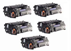 Kit 05 Cartuchos de Toner Compatível HP Q5949A Q7553A