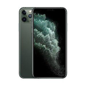 """iPhone 11 Pro Max Apple 64GB Tela 6,5"""" iOS 13 Tripla Câmera Traseira Resiste à Água Verde-Meia-Noite"""