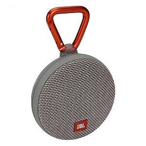 Caixa de Som JBL Clip 2 Bluetooth à Prova D'água Cinza