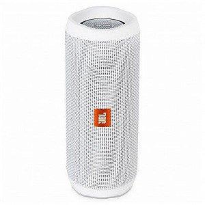 Caixa de Som JBL Flip 4 Bluetooth à Prova D'água Branco