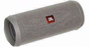 Caixa de Som JBL Flip 4 Bluetooth à Prova D'água Cinza
