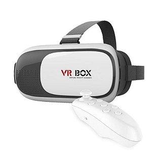 Óculos 3d Realidade Virtual Vrbox 2.0 Controle - Mox