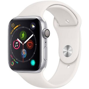 Apple Watch Series 4 GPS 44mm Prata Case Branco Sport Band