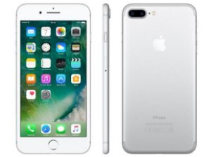 "iPhone 7 Plus Apple 128GB Prata 4G Tela 5.5"" Câmera Dupla 12MP + Selfie 7MP iOS 11 Proc. Chip A10"