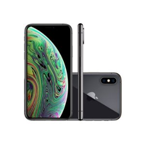 "iPhone XS Max Apple 256GB Preto 4G Tela 6,5"" Retina - Câmera Dupla 12MP + Selfie 7MP iOS 12"