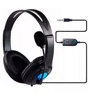 Headset Fone de Ouvido com Microfone para Xbox 360° One Ps4 H12