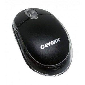Mouse Óptico Usb Preto Eo-101 - Evolut