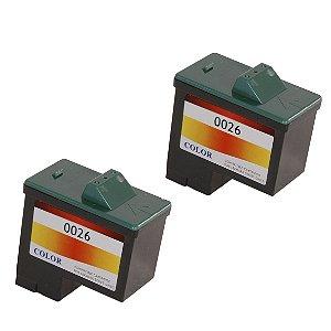 Kit 2 Cartuchos de Tinta Compativel Lexmark 26/27 Preto 15ml
