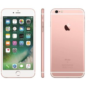 "iPhone 6s Plus Apple 32GB Rosel 4G Tela 5.5"" Retina Câm. 12MP + Selfie 5MP iOS 10 Proc. A9"