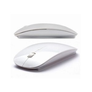 Mouse sem Fio 2.4ghz 1600dpi Branco - Haoqing