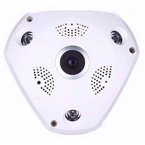 Câmera Fisheye Ip  360° Wifi Hd Panorâmica - Vr Cam