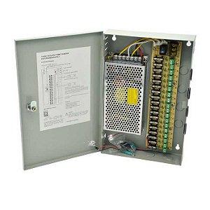 Mini Rack 9ch + Fonte 5a 12v Bivolt - Cctv