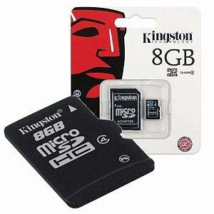 Cartão de Memória 8GB Micro SD c/ Adapt SD - Kingston
