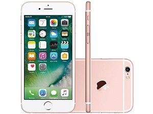 """iPhone 6s Apple 64GB Rose 4G Tela 4.7"""" Retina Câm. 12MP + Selfie 5MP iOS 11 Proc. A9"""