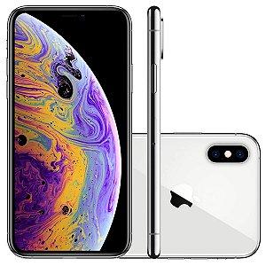 "iPhone XS Max Apple 64GB Prata 4G Tela 6,5"" Retina - Câmera Dupla 12MP + Selfie 7MP iOS 12"