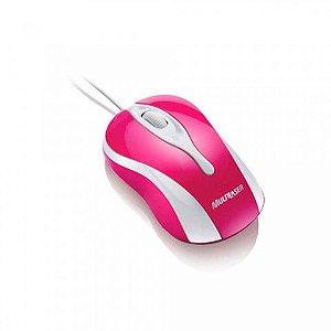 Mouse Óptico USB Colors Magenta MO143 - Multilaser