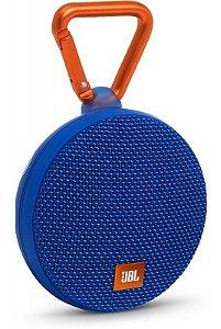 Caixa de Som JBL Clip 2 Bluetooth à Prova D'água Azul